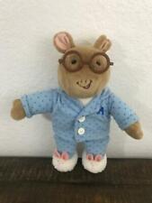"""Tv Arthur Aardvark Eden Plush Bedtime Blue Pjs Bunny Slippers Glasses 13"""""""