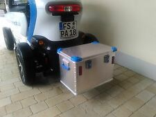 Zargesbox Alubox auf Anhängerkupplung für Twizy Quad ATV