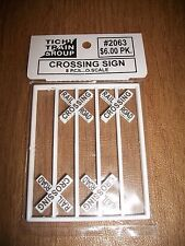 Tichy O Scale #2063 Crossing Signs 8 pack  Bob The Train Guy