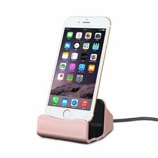 Dockingstation Tischladestation für Apple iPhone 5S 5C SE 6 7 7S 6S Plus Rose