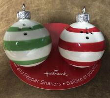 Hallmark Christmas Ornaments Salt And Pepper Shaker Set New