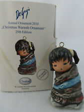 Christmas Warmth 2010 Goebel DeGrazia Annual Ornament #565 - Mib
