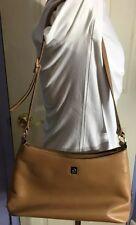 Etienne Aigner Camel / Beige Genuine Leather Handbag Shoulder Bag Satchel Purse