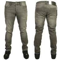 Mens Jack & Jones Jeans Denim Grey Slim Fit Designer Straight Leg Pants