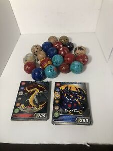 Random Lot of 5 Bakugan Balls From Pictures! + 10 Random Cards Some Metal Used