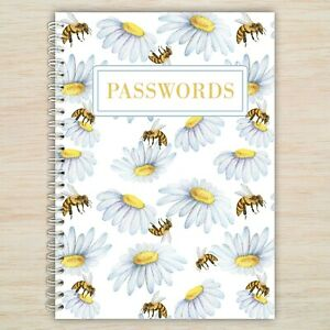 Bees Password Book - A6 Alphabetical Organised Notebook click to see our designs