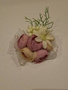 Wedding Prom Corsage Pink And White Flowers