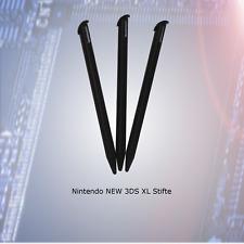 3x  Nintendo NEW 3DS XL  Stifte in schwarz Touch Pen  *** NEU ***
