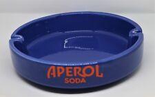 grande posacenere ceramica APEROL SODA diametro cm 25, portacenere vintage