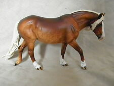 Breyer Horse Statue OOAK CM/Custom Haflinger Pony Dappled Chocolate Palomino