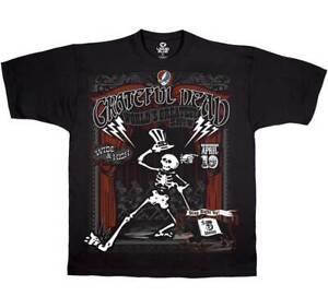 GRATEFUL DEAD SHOW TIME BEAR ROCK TIE DYE BAND COLORFUL MUSIC MENS T SHIRT S-2XL