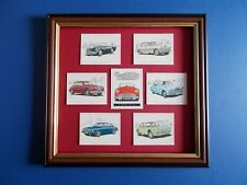 DAIMLER CARDS MOUNTED AND FRAMED
