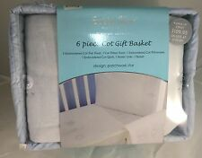 New Bubba Blue Baby Cot 6 Piece Patchwork Star Set Warm Soft