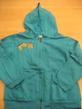 Girls 4 DANI TUTU MAVERICK Aqua Blue SWEATSHIRT Hoodie JACKET Neon Rainbow Star