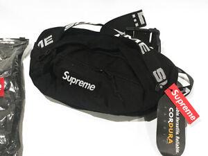 Supreme Black Waist/Shoulder Bag Fanny Pack for Women & Men Unisex Brand New