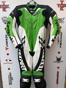 texport kawasaki One Piece Race suit with hump uk 46 euro 56 immaculate