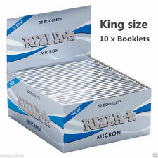10x Rizla Micron Silver Thin Slim Kingsize Rolling Papers Booklets