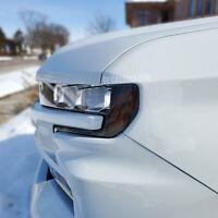 Fits 2019+ Silverado 1500 Headlight Reflector Dark Tint Overlay - Smoke Front