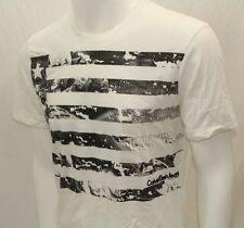 Calvin Klein Men's T-shirt Crew S-Sleeve Color White Sz XLarge New Print NWOT