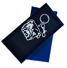 NEW Polo Ralph Lauren Bulldog Embroidered Key Chain in Gift Box