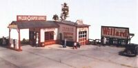 JLI 311 HO 1/87 MCLEOD SUPER SERVICE GAS STATION GARAGE KIT Railroad Miniatures