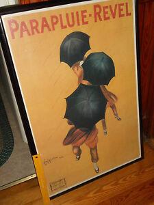 """Leonetto Cappiello Poster PARAPLUIE REVEL 36"""" X 24"""" Vintage 1922 Art Repro Paris"""