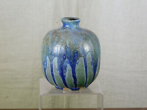 Charles Greber Master Listed Ceramist Stoneware Art Nouveau Drip Glaze Vase