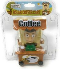 Solar Power Dancing Toys Street Coffee Cart Solar Dancing Bobble Head Toys