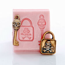 Skeleton Silicone Mold Skull & Cross Bones Food Safe Jewelry Clay Mould (536)