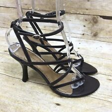 Gianni Bini Women's Size 8M Brown Leather Slingback Strappy Pumps Sandals Heels