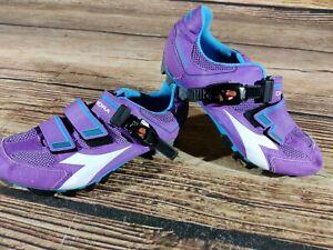 DIADORA X-Trivex Cycling MTB Shoes Mountain Bike Boots 2 Bolts Ladies EU38 US7