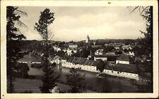 Kácov nad Sázavou Tschechien s/w AK ~1950/60 Teilansicht Blick über den Fluss