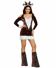 Dreamgirl Sexy Deer Me Costume Women's Fancy Dress Reindeer Animal SMALL