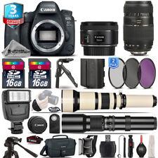 Canon EOS 6D Mark II Camera + 50mm 1.8 STM + 70-300mm + EXT BATT + 3yr Warranty