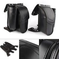 Rear Saddlebag Guard Cover Bags Black For Harley Touring FLHT FLHR FLHX 93-up
