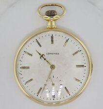 18K Yellow Gold Longines 16 Jewel Mechanical Wind Up Vintage Pocket Watch