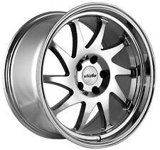 Whistler KR7 16x8 4x100 Rims +20 Chrome Wheels Fits Crx Jetta 325 318 Fit Xb E30