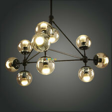 10 Lights Modern Round Glass Chandelier Fixture Pendant Lamp Ceiling Light PL375