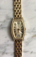 NEW GUESS G95368L Signature Gold color Crystal Ladies Bracelet Watch logo