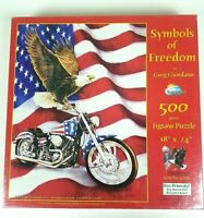Symbols of freedom 500 piece jigsaw puzzle american flad patriotic sealed