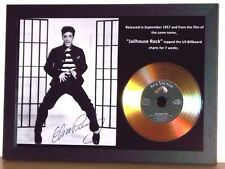 ELVIS PRESLEY 'JAILHOUSE ROCK' SIGNED GOLD PRESENTATION PHOTO/DISC