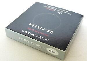 62mm High Tech Optics UV Filter - Made In Japan - NEW