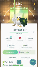 Pokemon Go  - ULTRA LEAGUE 2500CP PVP- Sirfetch'd - with 2nd charge move