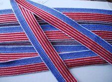 Metallic Silver Braid Ribbon Trim Sewing  4th. July