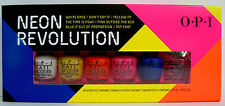 OPI NEON REVOLUTION 6 Mini Polish Set~WHITE BASE/YELLOW/ORANGE/PINK/BLUE/TOP NIB