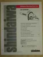 SHINDAIWA 360 CHAINSAW ILLUSTRATED PARTS LIST MANUAL 1999