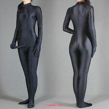 Details about  Sexy lycra spandex Plain Black zentai suit costume with Penis No