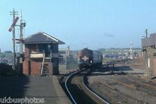 NIR DEMU & Portrush Signal box 1982 Northern Ireland Rail Photo