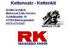 RK Kit chaîne Kawasaki KLR 600, KLR600, KL600, 15-43-104, rk520xso Kit chaîne