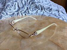 Boucheron Bou91 Rose Gold Plt Titanium SWARVOSKI  Eyeglasses 52-18-135  $1080